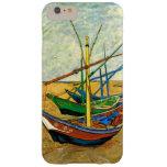 Barcos de pesca de Van Gogh en la playa en Saintes Funda De iPhone 6 Plus Barely There