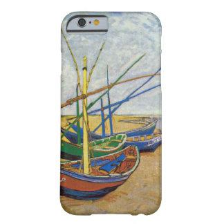 Barcos de pesca de Van Gogh en la playa Funda Para iPhone 6 Barely There