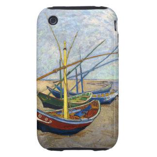 Barcos de pesca de Van Gogh iPhone 3 Tough Protectores