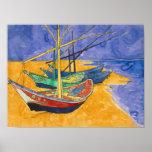 Barcos de pesca de Vincent van Gogh el   en la Póster