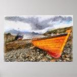 Barcos de pesca en Elgol Póster