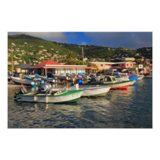 Barcos de pesca en Frenchtown, St Thomas USVI Posters
