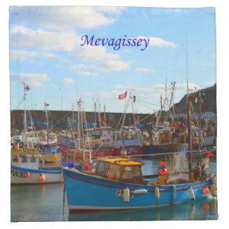 Barcos de pesca en la foto de Mevagissey Servilletas