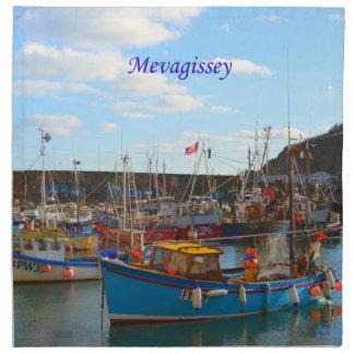 Barcos de pesca en la foto de Mevagissey Servilletas De Papel