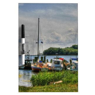 Barcos de pesca en la isla II de Ruegen Pizarras