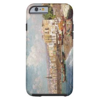 Barcos de pesca en la playa en Marinella, Nápoles Funda Para iPhone 6 Tough
