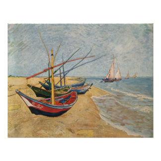 Barcos de pesca en la playa en Saintes-Maries, 188 Posters