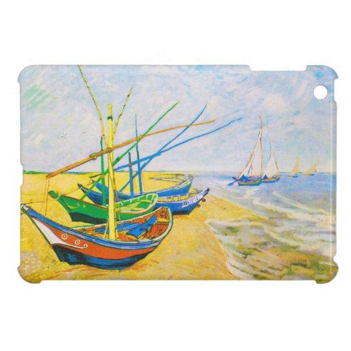 Barcos de pesca en la playa en Saintes-Maries iPad Mini Cárcasa