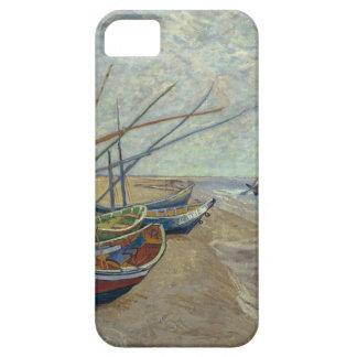 Barcos de pesca en la playa funda para iPhone 5 barely there