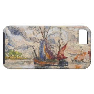 Barcos de pesca en La Rochelle, c.1919-21 iPhone 5 Case-Mate Funda