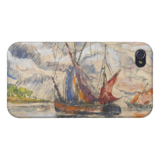 Barcos de pesca en La Rochelle, c.1919-21 iPhone 4 Funda