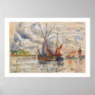 Barcos de pesca en La Rochelle, c.1919-21 Impresiones