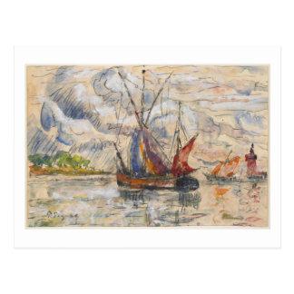 Barcos de pesca en La Rochelle, c.1919-21 Postal