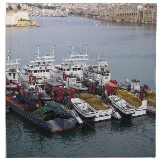 Barcos de pesca en La Valeta Servilleta De Papel
