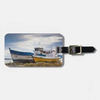 Barcos de pesca etiquetas bolsas