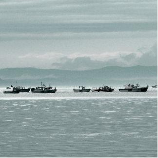 Barcos de pesca fotoescultura vertical