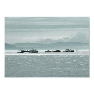 """Barcos de pesca invitación 5"""" x 7"""""""