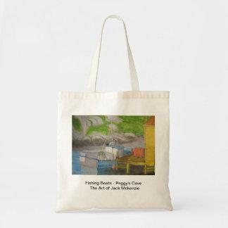 Barcos de pesca - la ensenada de Peggy Bolsas De Mano