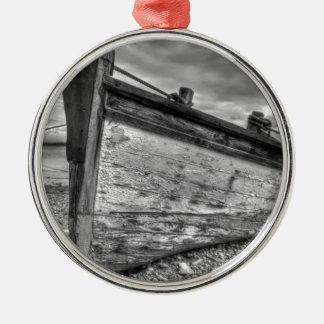 Barcos de pesca llevados tiempo de Lancashire Adorno Redondo Plateado