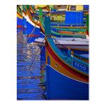 Barcos de pesca malteses tarjeta postal