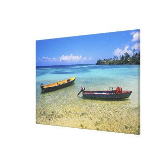 Barcos de pesca, playa de Boston, puerto Antonio, Impresiones En Lona
