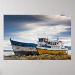 Barcos de pesca póster