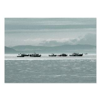 Barcos de pesca tarjetas de visita grandes