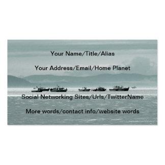 Barcos de pesca tarjetas de visita