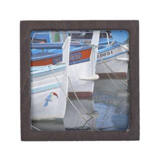 Barcos de pesca típicos de Provencal pintados en 2 Caja De Regalo De Calidad