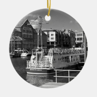 Barcos de placer en el río Ouse de York Adornos De Navidad