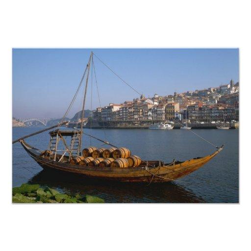 Barcos de Rabelo, Oporto, Portugal Cojinete