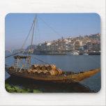 Barcos de Rabelo, Oporto, Portugal Mouse Pad