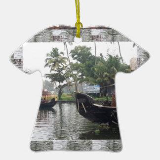 Barcos de RÍO de KERALA la India Adorno De Cerámica En Forma De Camiseta