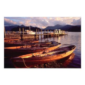 Barcos de rowing de Keswick - Derwentwater Fotografía