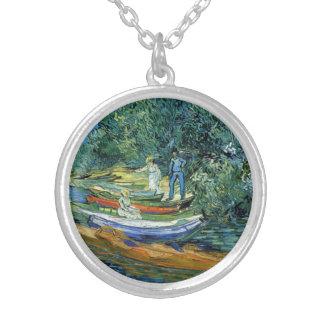 Barcos de Rowing de Van Gogh en los bancos del Ois Colgante Redondo
