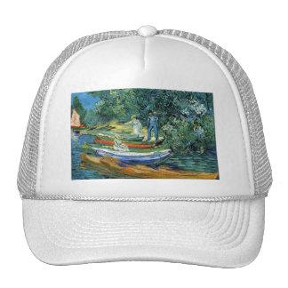 Barcos de Rowing de Van Gogh en los bancos del Ois Gorros
