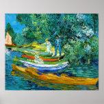 Barcos de Rowing (Van Gogh) Poster