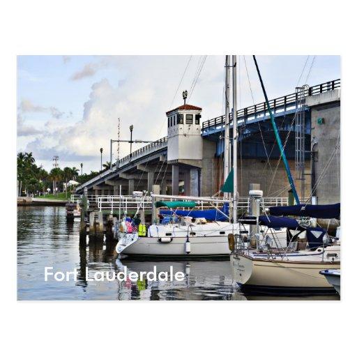 Barcos de vela atracados, Fort Lauderdale Tarjetas Postales