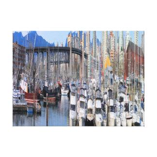 Barcos de vela impresión en lona estirada
