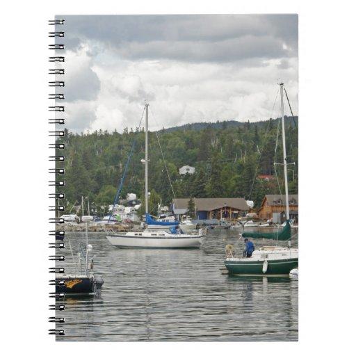 Barcos de vela magníficos de Marais Cuadernos