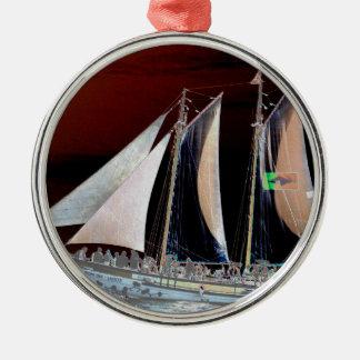 Barcos debajo de la vela ornamento para arbol de navidad