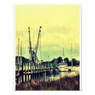 Barcos del camarón de la isla de Wilmington Impresiones Fotográficas