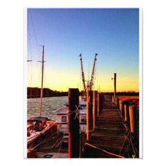 Barcos del camarón de la isla de Wilmington Arte Fotografico