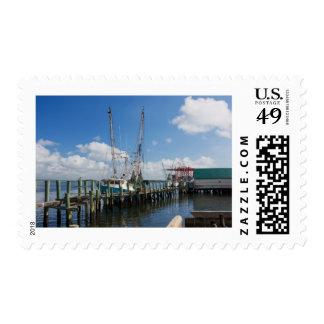barcos del camarón sellos postales