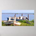 Barcos del cangrejo poster