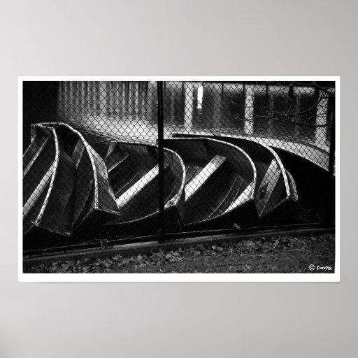 Barcos del Central Park Póster
