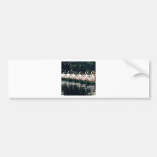 Barcos del cisne de los jardines públicos de pegatina para auto