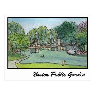 Barcos del cisne del jardín público de Boston Postales