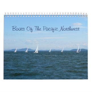 Barcos del noroeste pacífico calendarios