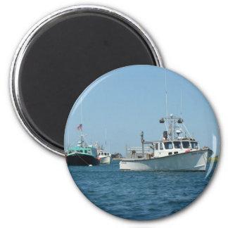 Barcos del puerto de Chatham Imán Redondo 5 Cm